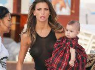 Claudia Galanti : Topless ou en débardeur transparent, elle pose avec sa fille