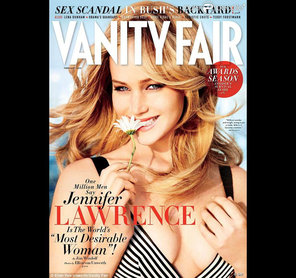 Jennifer Lawrence, malicieuse et hypnotique en couverture du Vanity Fair de février.