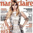 Fin 2012, Jennifer Lawrence pose avec sensualité et assurant en couverture du Marie Claire sud-africain.