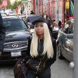 Nicki Minaj fait du shopping sur Rodeo Drive à Beverly Hills. Le 20 décembre 2012.