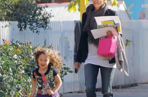 Halle Berry avec son adorable fille, Nahla, sur le chemin de l'école