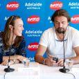 Martina Hingis et Henri Leconte lors de la conférence de presse du World Tennis Challenge à Barossa Valley du côté d'Adélaide le 8 janvier 2013