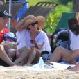 L'actrice Reese Witherspoon passe le début d'année au soleil à Hawaï avec son mari Jim Toth, leur bébé Tennessee, et les enfants de l'actrice Deacon et Ava. Le 2 janvier 2013.
