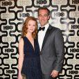 James Van Der Beek accompagné de sa femme Kimberly Van Der Beek à la soirée HBO Golden Globe Awards After Party au Beverly Hilton Hôtel de Los Angeles, le 13 janvier 2013.