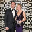 Jon Hamm et sa chérie Jennifer Westfeldt à la soirée HBO Golden Globe Awards After Party au Beverly Hilton Hôtel de Los Angeles, le 13 janvier 2013.