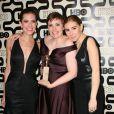 Lena Dunham, Allison Williams, Zosia Mamet à la soirée HBO Golden Globe Awards After Party au Beverly Hilton Hôtel de Los Angeles, le 13 janvier 2013.