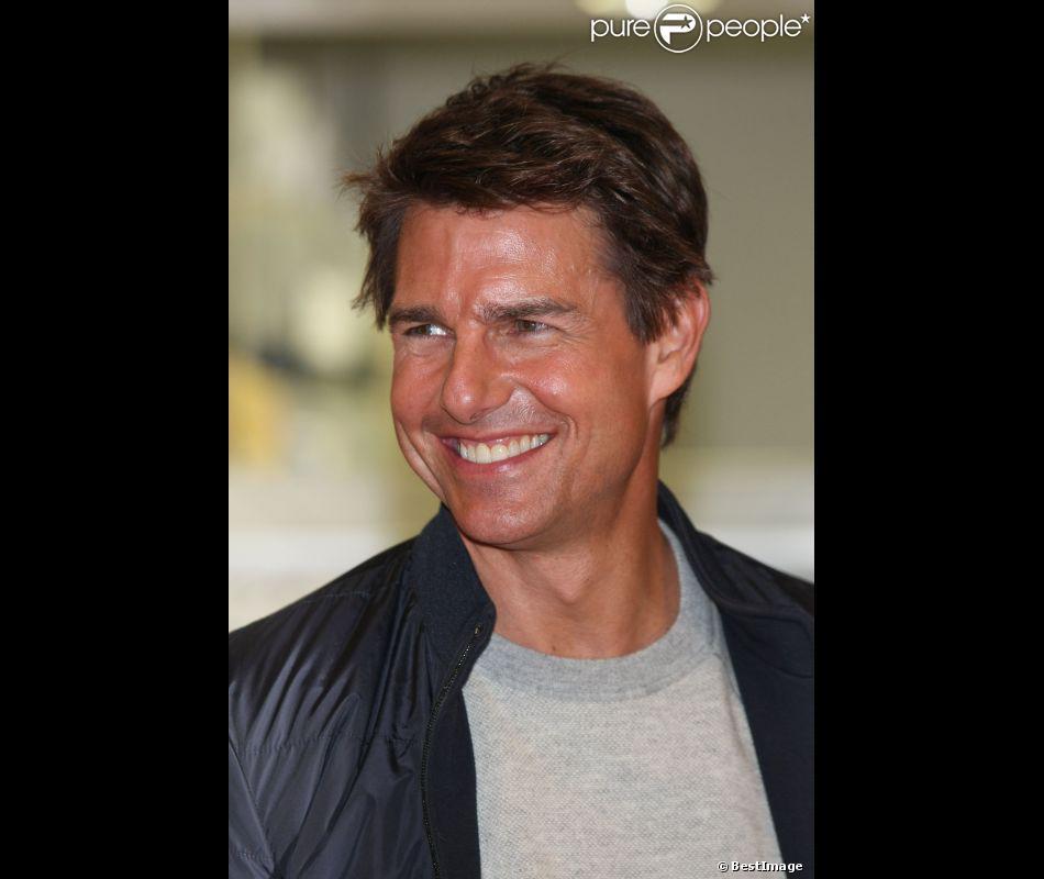 Tom Cruise arrive à Tokyo le 8 Janvier 2013, pour faire la promotion de son dernier film Jack Reacher.