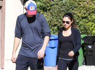 Ashton Kutcher et Mila Kunis : Balade en amoureux et look de sportif du dimanche