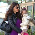Oksana Grigorieva est allée chercher sa fille Lucia - dont le père est Mel Gibson - à son cours de danse classique le 19 janvier 2013 à Sherman Oaks en Californie