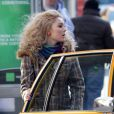 AnnaSophia Robb sur le tournage de la serie The Carrie Diaries à New York, le 22 janvier 2013.
