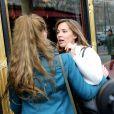 """Florence Cassez et Melissa Theuriau se sont enfin retrouvées au restaurant """"La Grande Armée"""" a Paris, le 25 janvier 2013"""