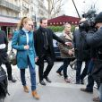 """Florence Cassez et Melissa Theuriau se sont rencontrées au restaurant """"La Grande Armée"""" a Paris, le 25 janvier 2013"""