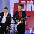 Gerard Lanvin à l'enregistrement de l'émission Vivement Dimanche, à paris, le 23 janvier 2013.
