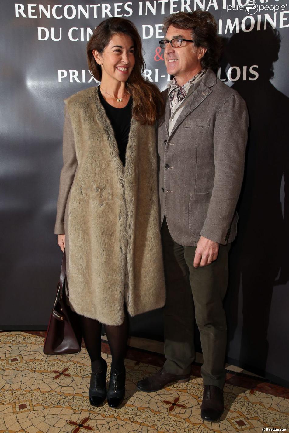 Francois Cluzet et sa femme Narjiss lors des Rencontres Internationales du Cinéma de Patrimoine et du prix Henri Langlois à Vincennes le 28 janvier 2013