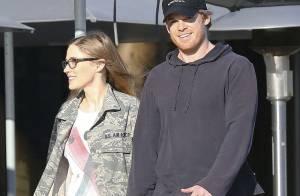 Michael C. Hall aux anges avec sa girlfriend... Dexter est très, très amoureux !