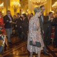 La princesse Astrid et le prince Lorenz suivis du prince Laurent et de la princesse Claire, passant devant le Premier ministre Elio Di Rupo. Le roi Albert II de Belgique et la reine Paola, le prince héritier Philippe et la princesse Mathilde, la princesse Astrid et le prince Lorenz, le prince Laurent et la princesse Claire lors de la réception du Nouvel An pour les autorités et personnalités du pays, au palais Laeken le 29 janvier 2013.