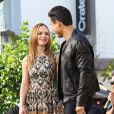 Christina Ricci et Mario Lopez lors d'un évènement organisé par la marque de cosmétique Make Up For Ever à the Grove à Los Angeles en Californie le 1er février à Los Angeles