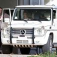 Britney Spears et ses fils chez le vétérinaire à Los Angeles, le 3 fevrier 2013.