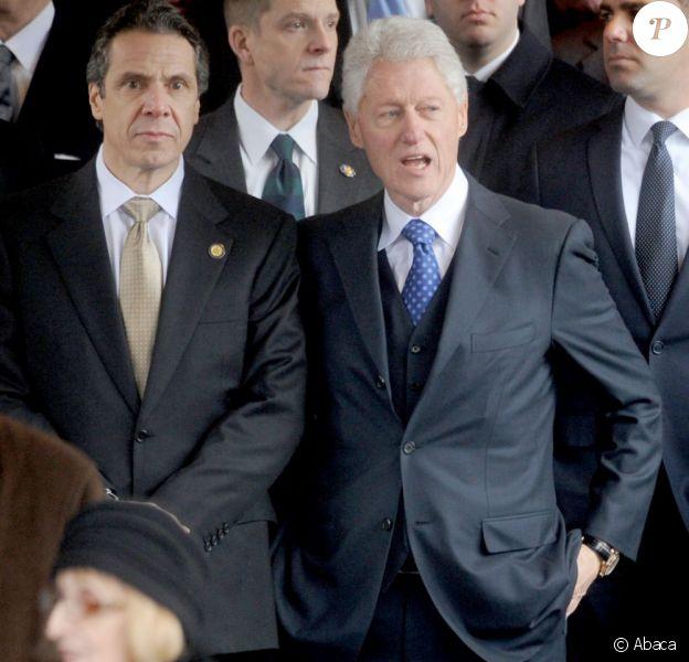 Bill Clinton a rendu une dernier hommage à l'ancien maire de New York, Ed Koch dont les funérailles ont eu lieu le 4 février 2013, à New York.
