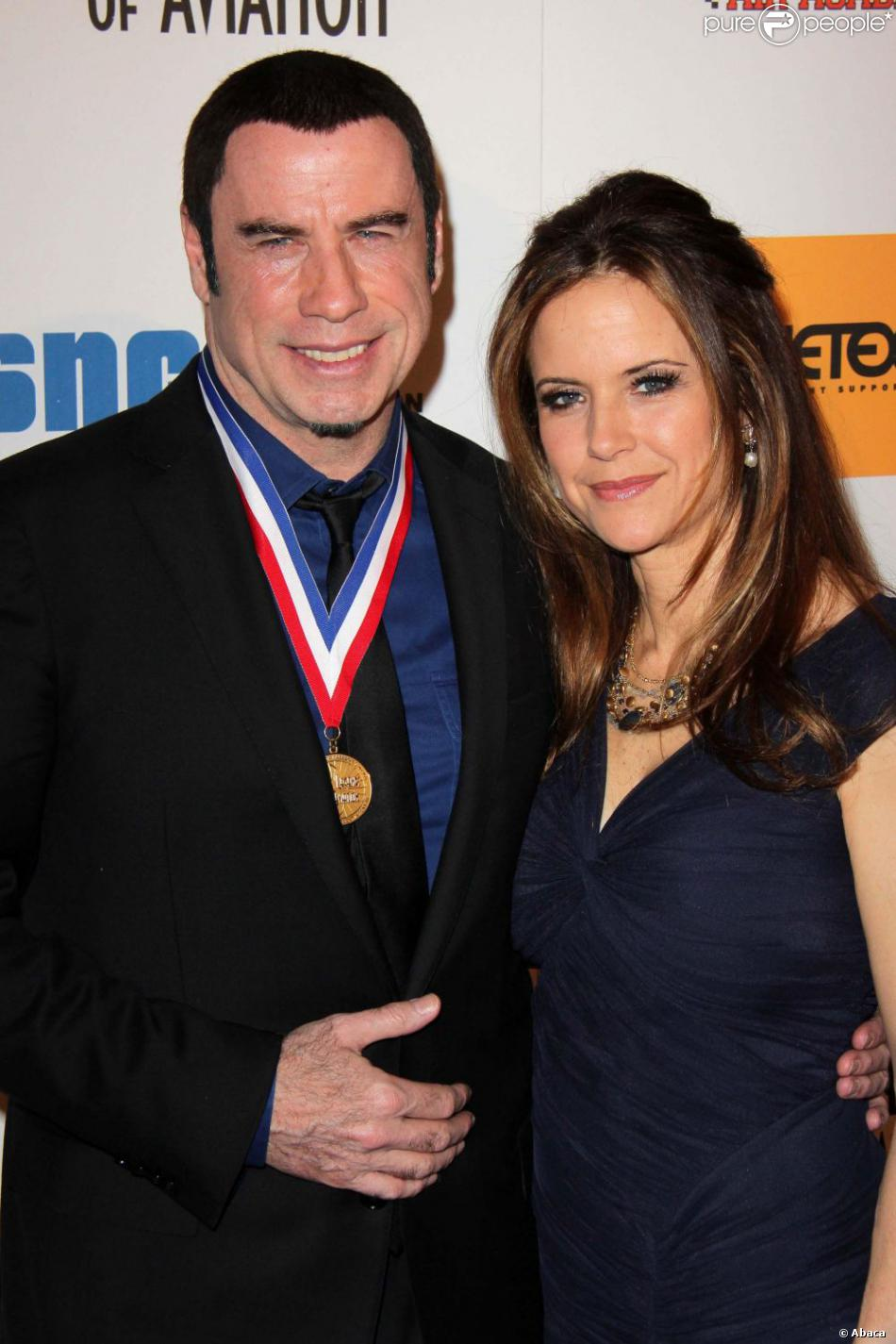 John Travolta et Kelly Preston à la 10e cérémonie annuelle Living Legends of Aviation Awards à Beverly Hills, le 18 janvier 2013.