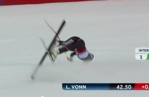 Lindsey Vonn : Terrible chute et saison terminée pour la sublime skieuse !