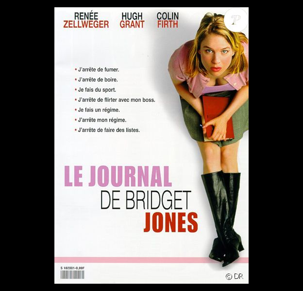 L'affiche du film Le Journal de Bridget Jones, sorti en 2001.