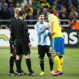 """"""" La Suède de Zlatan Ibrahimovic s'est inclinée face à l'Argentine de Lionel Messi, le 6 février 2013 à la Friends Arena de Stockholm, en match amical. """""""