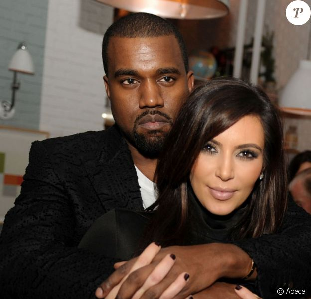 Kanye West et Kim Kardashian en décembre 2012 à Miami