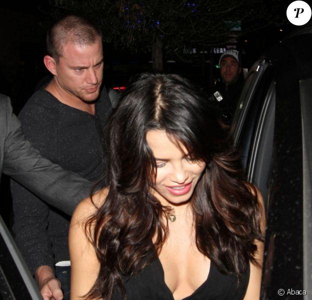 Channing Tatum et Jenna Dewan, enceinte, sortent du restaurant Little Door, à Los Angeles, le 6 février 2013.