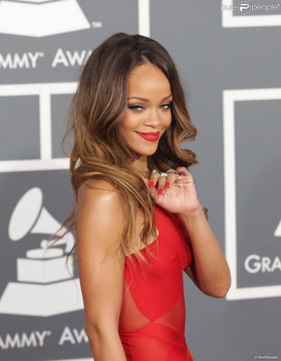 Rihanna à la 55e cérémonie des Grammy Awards à Los Angeles le 10 février 2013.