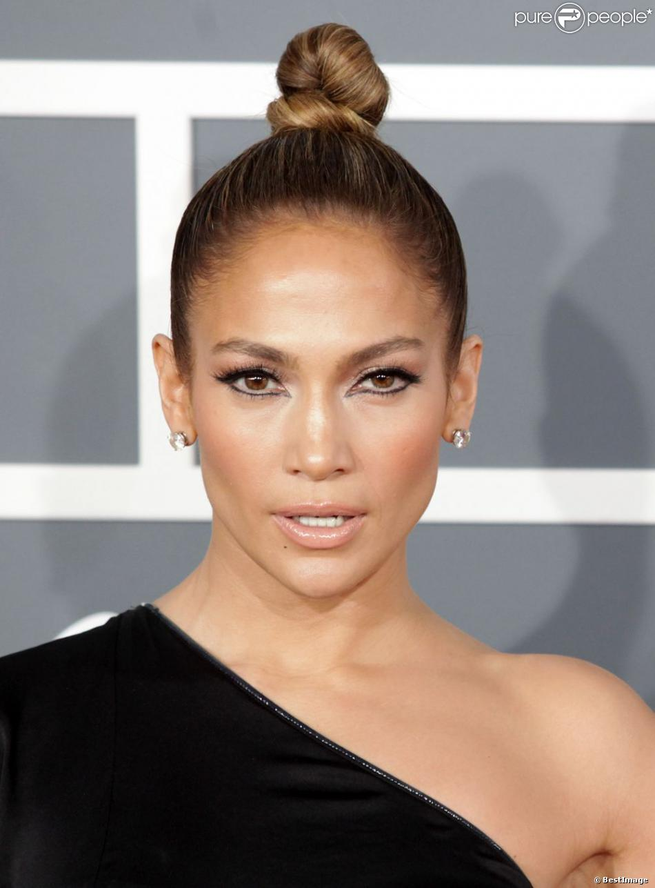 Jennifer Lopez lors des 55e Grammy Awards au Staples Center. Los Angeles, le 10 février 2013.