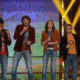 Florian, Philippe, Sophie-Tith et Flo lors du 10e prime de Nouvelle Star sur D8 le mardi 12 février 2013