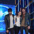 Les demi-finalistes Florian, Sophie-Tith et Florian lors du 10e prime de Nouvelle Star sur D8 le mardi 12 février 2013