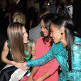 Hilary Swank, Zoe Saldana, Jada Pinkett Smith à la Fashion Week de New York, le 13 février 2013.