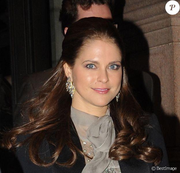 La princesse Madeleine de Suède et son fiancé Christopher O'Neill se rendent à un concert philharmonique à New York, le 15 février 2013.
