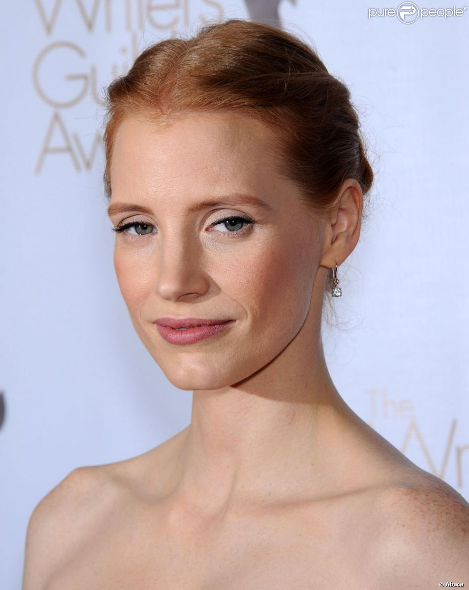 Jessica Chastain lors des Writers Guild of America Awards à Los Angeles le 17 février 2013