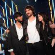 EXCLUSIF - Florian, Philippe et Sophie-Tith lors de la demi-finale de Nouvelle Star 2013, diffusée sur D8, le 19 Fevrier 2013
