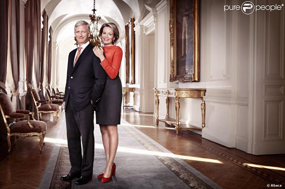 Philippe et Mathilde le 14 janvier 2013. Portrait de la princesse Mathilde de Belgique pour son 40e anniversaire, célébré le 20 janvier 2013.