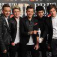 One Direction a été récompensé pour son Rayonnement international aux Brit Awards le 20 février 2013.