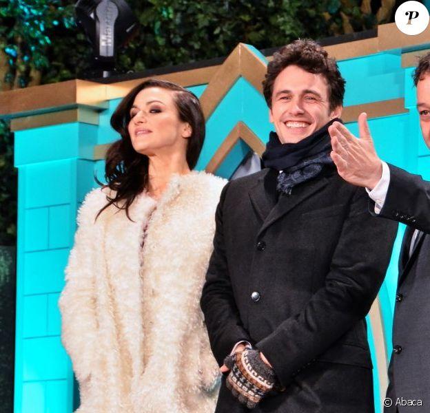 Rachel Weisz, Sam Raimi, James Franco lors de la présentation au Japon, à Tokyo, du film Le Monde fantastique d'Oz le 20 février 2013