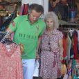 La duchesse d'Albe et son mari Alfonso Diez en vacances dans les Baléares en août 2012.