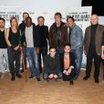 L'équipe du film au complet pour l'avant-première du film Un p'tit gars de Menilmontant à Paris le 26 février 2013.
