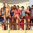 Le cast des  Anges de la télé réalité 5  à Miami le 22/01/13.