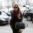 Exclusif - Jessica Chastain arrive à son hôtel près du jardin des Tuileries. Paris, le 2 mars 2013.