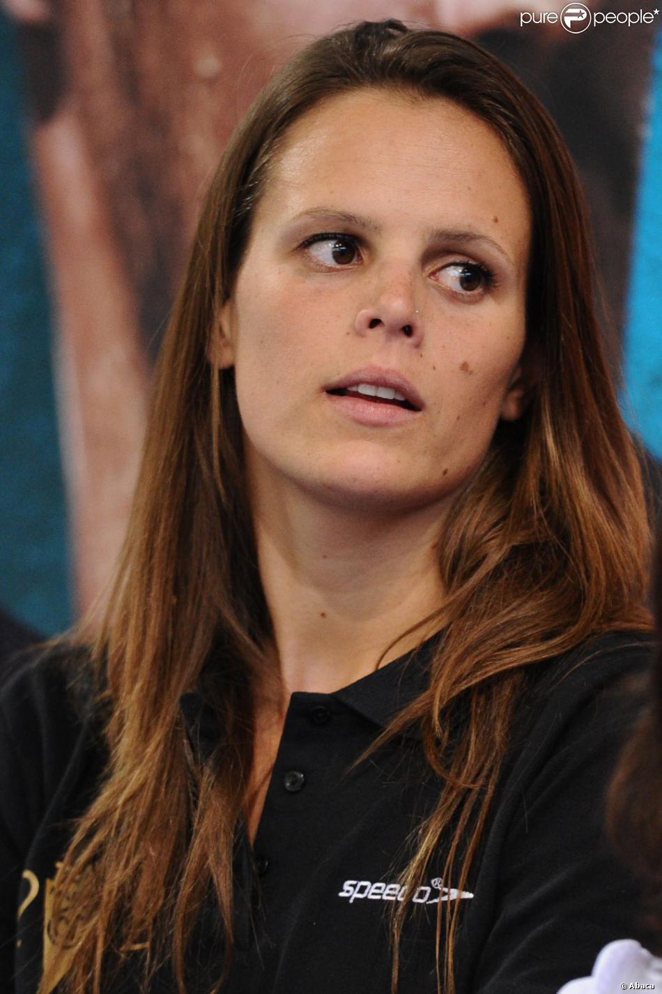 Laure Manaudou à Strasbourg lors des championnats de France de natation de Strasbourg le 24 mars 2011