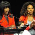 """""""Michelle Obama et Serena Williams lors d'un évènement organisé dans le cadre de la campagne Let's Move Active Schoolsau McCormick Place de Chicago le 28 février 2013"""""""