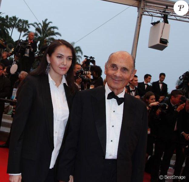 Guy Marchand et sa femme Adelina. Le 27 mai 2012 au Festival de Cannes.