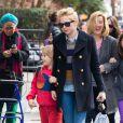 Michelle Williams avec sa fille Matilda à New York le 13 mars 2013