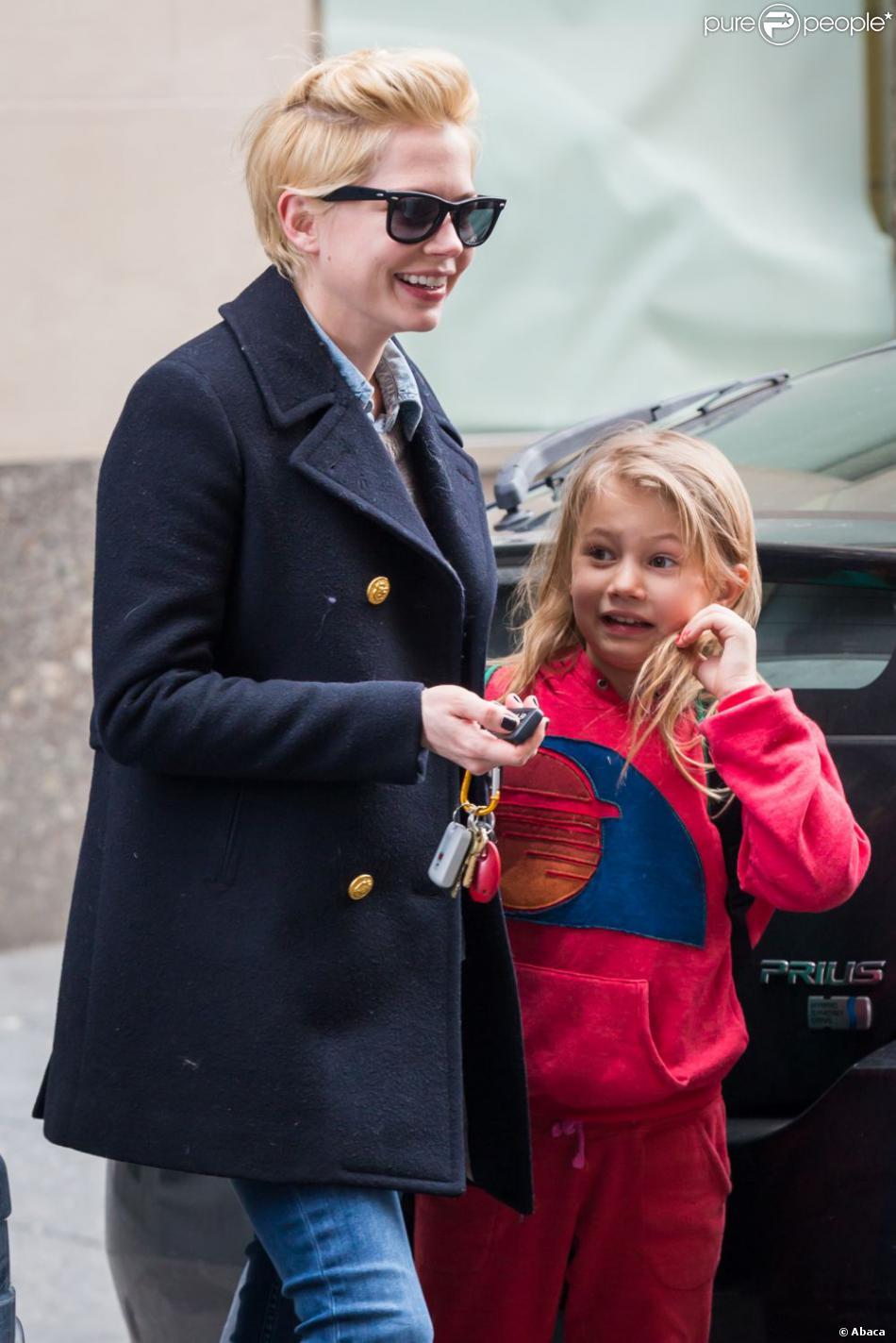 Michelle Williams et sa fille Matilda à New York le 13 mars 2013