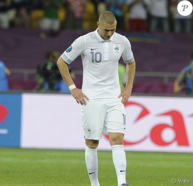Karim Benzema durant l'Euro 2012 lors du match face à la Suède le 19 juin 2012 à Kiev